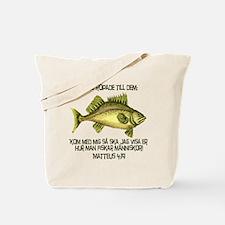 Matthew 4:19 Swedish Tote Bag