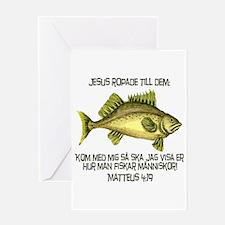 Matthew 4:19 Swedish Greeting Card