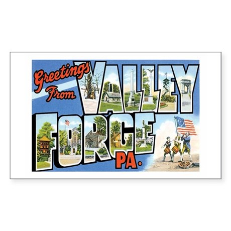 Valley Forge PA Rectangle Sticker