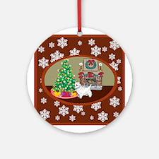 Classic Westie Ornament (Round)