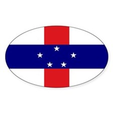 Netherlands Antilles stickers Oval Decal