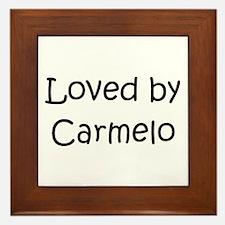 Cute Carmelo Framed Tile