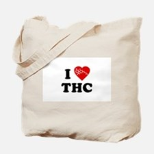 I Love [Heart] THC Tote Bag