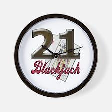 Blackjack/black 21: Wall Clock