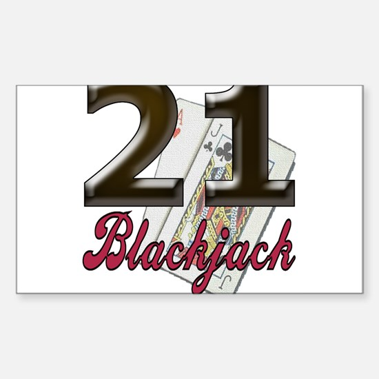 Blackjack/black 21: Rectangle Decal