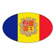 Andorran stickers Oval Decal