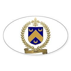 NOEL Family Crest Oval Sticker