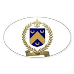 NOEL Family Crest Oval Sticker