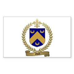 NOEL Family Crest Rectangle Decal