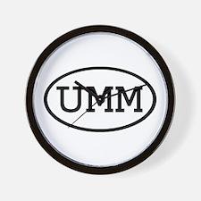 UMM Oval Wall Clock