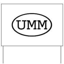 UMM Oval Yard Sign