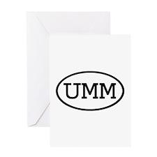 UMM Oval Greeting Card