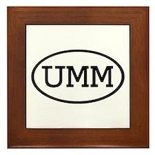 UMM Oval Framed Tile