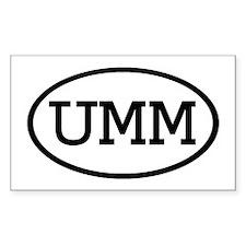 UMM Oval Rectangle Sticker 10 pk)