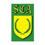 SCA Rectangle Sticker 10 pk)