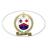 NORMAND Family Crest Oval Sticker