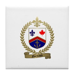 NORMAND Family Crest Tile Coaster
