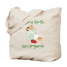 Home Birth 100% Organic - Dark Baby Tote Bag