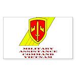 MACV Rectangle Sticker 50 pk)