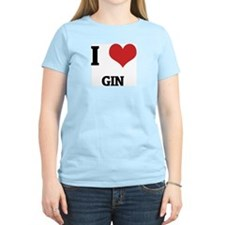 I Love Gin Women's Pink T-Shirt