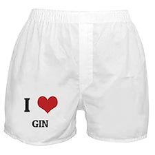 I Love Gin Boxer Shorts