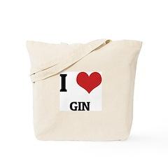 I Love Gin Tote Bag