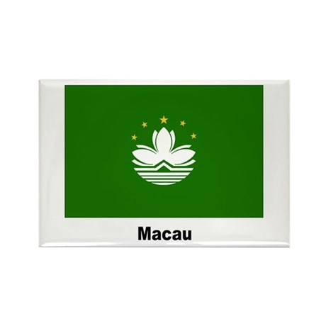 Macau Flag Rectangle Magnet