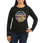 XmasStar/Golden #1 Women's Long Sleeve Dark T-Shir