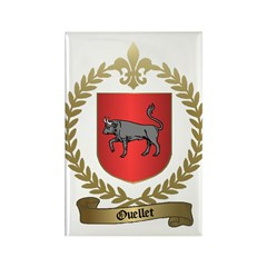 OUELLET Family Crest Rectangle Magnet