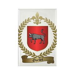 OUELLET Family Crest Rectangle Magnet (10 pack)