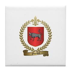 OUELLET Family Crest Tile Coaster