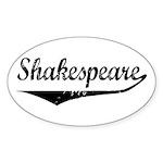 Shakespeare Oval Sticker