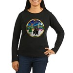 Xmas Musc 3/Cavalier Women's Long Sleeve Dark T-Sh
