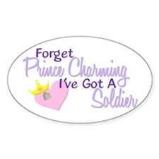 Forget Prince Charming - Sold Oval Decal