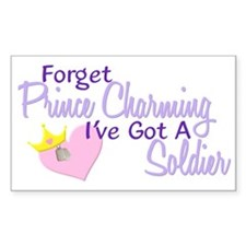 Forget Prince Charming - Sold Rectangle Decal
