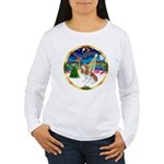XmasMusic 3/Cavalier #F1 Women's Long Sleeve T-Shi