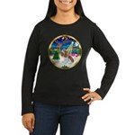 XmasMusic 3/Cavalier #F1 Women's Long Sleeve Dark
