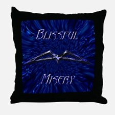 Blissful Misery Throw Pillow