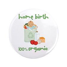 """Home Birth 100% Organic - Dark Baby 3.5"""" Button (1"""