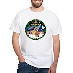 XmasSunrise/Vizsla White T-Shirt