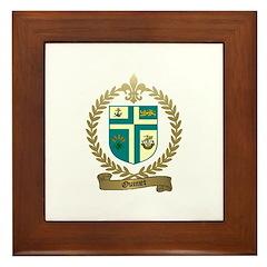 OUIMET Family Crest Framed Tile