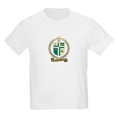 OUIMET Family Crest Kids T-Shirt
