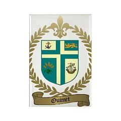 OUIMET Family Crest Rectangle Magnet (10 pack)