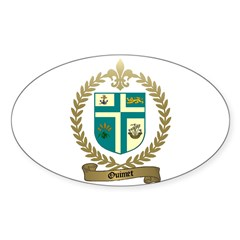 OUIMET Family Crest Oval Decal