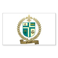 OUIMET Family Crest Rectangle Decal