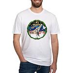 XmasSunrise/Chihuahua Fitted T-Shirt