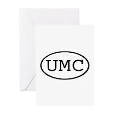 UMD Oval Greeting Card