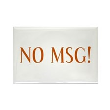 No MSG Rectangle Magnet
