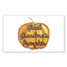 Great Grandma's Pumpkin Rectangle Decal
