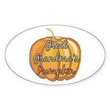 Great Grandma's Pumpkin Oval Decal